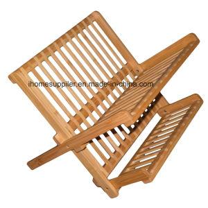 Bk101 Bamboo Folding Dish Rack Bowl Rack