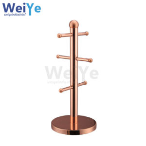 Stand of Cup Rack with Display Rack (WY7009 Brass)
