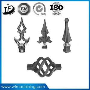 Customized Wrought Iron/Metal Ornament Fence Parts with Painting pictures & photos