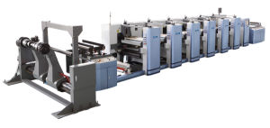 Wide Web Paper Roll Flexo Printing Machine pictures & photos