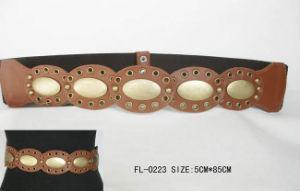 Ladies Belt with Oval Matel Fl-0223
