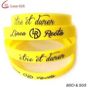Cheap Custom Silicone Wristband Enamel Silicone Bracelet (LM1628) pictures & photos