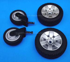 6X2 9X3 10X3 Power Wheelchair Solid PU Foam Filled Drive and Caster Tire pictures & photos