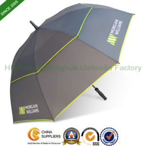 "68"" Arc Large Printed Fiberglass Double Canopy Golf Umbrellas (GOL-0034FD) pictures & photos"