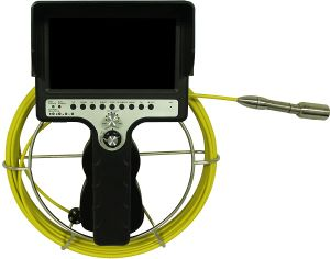 Camera for Inspecting Inside Pipe with 30m Push Rod Cable pictures & photos
