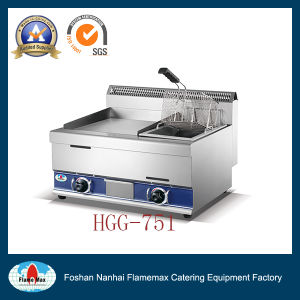 Hgg-751 Gas Griddle with Gas Fryer pictures & photos