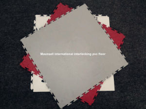 Maunsell High Quality Interclocking PVC Flooring in Piece 500mm X500mm pictures & photos