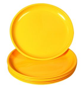 "Wholesale Durable 8"" Round Yellow Party Used Melamine Cake Plate pictures & photos"
