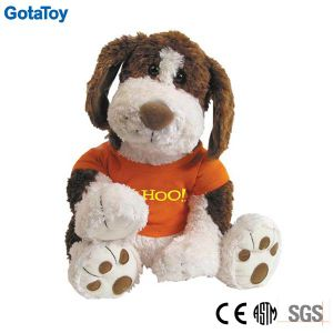 Competitive Price Factory Custom Plush Toy Dog with Cotton Shirt pictures & photos