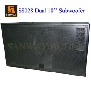 S8028 Dual 18′′ Indoor & Outdoor Subwoofer Cabinet Box PRO Audio Speaker with Lf18d401 Driver pictures & photos