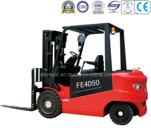 4-5t 4-Wheel Electric Forklift pictures & photos