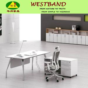 2015 New Design Modern Cheap Alloy Wooden Executive Table (WB-Green)