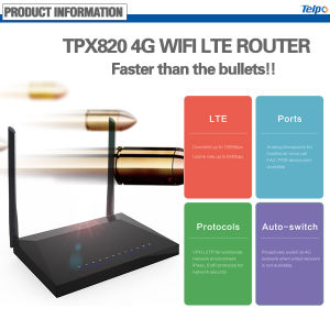 Telpo Tpx820 4G Lte ADSL WiFi Router with SIP Ports pictures & photos
