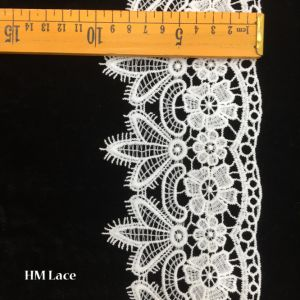 10cm White Wedding Gowns Lace Embroidered Floral Lace Trim Cake Lace Ribbon Hmhb892 pictures & photos