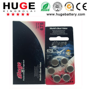 1.4V Zinc Air Battery Hearing Aid Battery A675 pictures & photos
