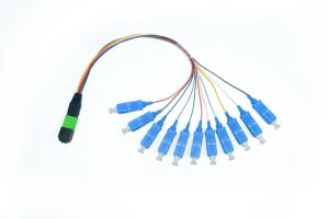 Single Mode/ Multimode MTP/MPO Cable Assemblies 8f, 12f, 24f Fiber Patch Cord Cable pictures & photos