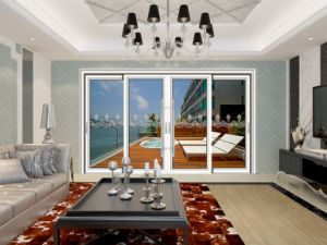 White Color Frame Heavy Duty Aluminium Sliding Door pictures & photos