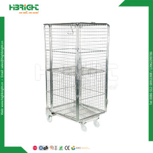a Frame Wire Foldable Steel Roll Container Cages pictures & photos