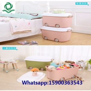 70L Large Children′s Cartoon Plastic Toy Storage Bin with Lockers pictures & photos