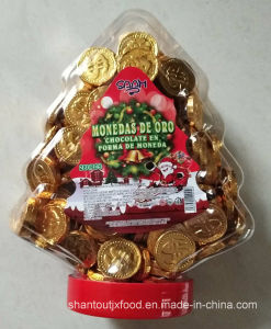 Christmas Tree Bottle 2.2g Chocolate Coin 280 PCS pictures & photos