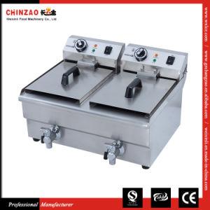 Electric Deep Fryer Commercial Double Baskets Dzl-26V pictures & photos