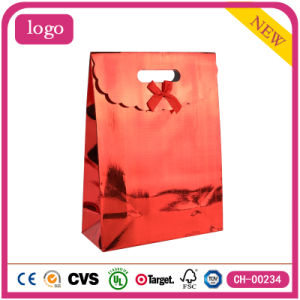 Holiday Red Fashion Art Coated Gift Paper Bags pictures & photos