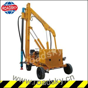 Road Safety Construction Hydraulic Hammer Guardrail Pile Driver for Sale pictures & photos