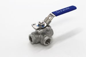 3-Way Mounted L-Port Ball Valve pictures & photos