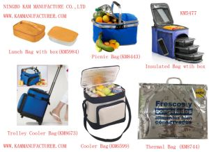Trolley Insulated Cooler Rolling Picnic Bag Wheel Thermal Ice Lunch Bag pictures & photos