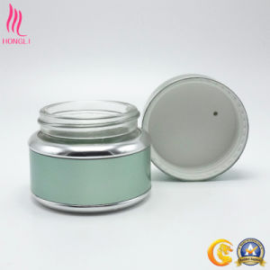Glossy Silver Color Round High-End Jar for Packaging pictures & photos
