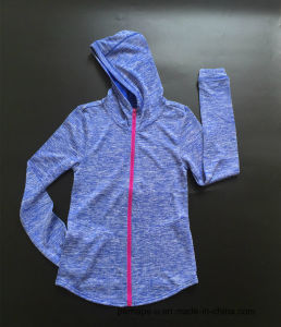 New Collections Ladies Fitness Hoodies Jacket with Custom Logo pictures & photos