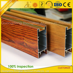 Wooden Grain Aluminum Profile for Window and Door Decoration pictures & photos