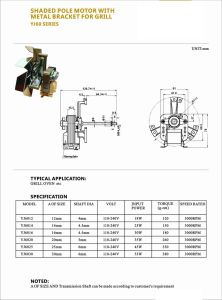 Grill Motor Manufacture Oven Motor Wholesale Shaded Pole Motor with Metal Bracket for Grill pictures & photos