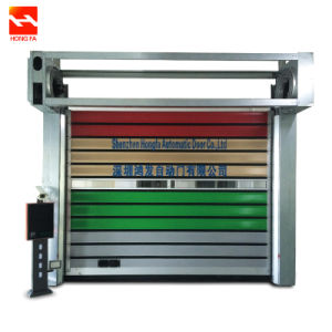 Aluminum Ragid Fast Roll up Industrial Door (HF-K93) pictures & photos