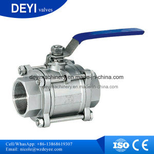 Stainless Steel Sanitary 3-Piece Threading Ball Valve pictures & photos