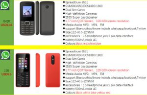 Cellphone 3300 Function Mobile Phone GSM Quad Band with Whatsapp pictures & photos