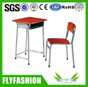 Cheap Middle Single Student Desk and Chair for Classroom Used (SF-75S) pictures & photos