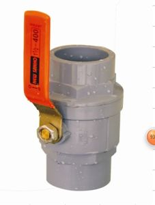 PVC Two Pieces Ball Valve with Stainless Steel Lever Operator pictures & photos