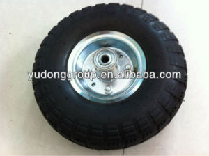 Wheelbarrow Tyre/Wheels, Small Rubber Wheel 4.10/3.50-4 pictures & photos