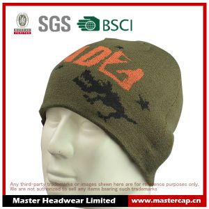 Custom Design 100% Acrylic Knitted Jacquard Beanie for Sales pictures & photos