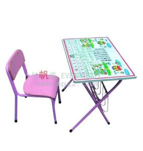 Hot Selling Wooden Cartoon Table Chair for Kids Reading (SF-07K) Kids Foldable Desk Chair with Letter pictures & photos