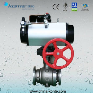 Side Entry 2PC Trunnion Ball Valve Pneumatic Operated pictures & photos