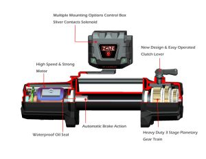 12000lbs Ce Cetificated Waterproof Auto Winch pictures & photos