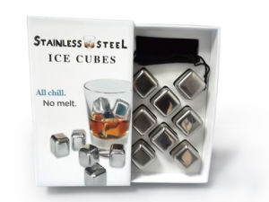 2013 Top Stainless Steel Ice Cube for Whisky Stone Set (KD-371)