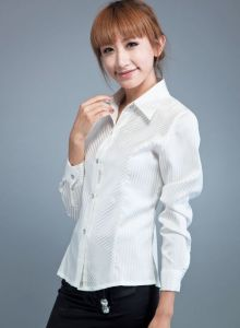 2011 Newest Ladies′ Dress Shirt, Plain White Shirt, Long Sleeve Shirt