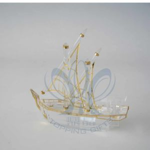 Dhow (Crystal and Gold Boat) (Medium to Small)