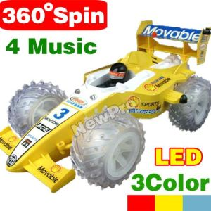 Newst 1: 18 Music Remote Control F1 Stunt Car With 360-Degree Rollover,2LED,Lights,4 Music (YW8888-F1)
