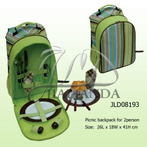 Stripe Picnic Backpack for 2 Person (JLD08193)
