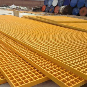 FRP/GRP Pultruded Grating, Fiberglass Grating with Anti-Fire pictures & photos