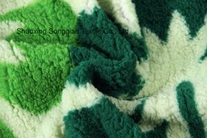 Print Polyester Shu Velveteen Fleece Fabric-16728-4 1# pictures & photos